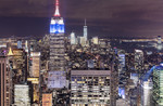New York after sunse